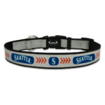 Seattle Mariners Reflective Nylon Dog Collar Size Large