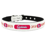 St. Louis Cardinals Classic Leather Large Baseball Dog Collar