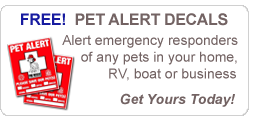 FREE Pet Alert Window Decals