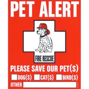 Pet Safety Alert Decal