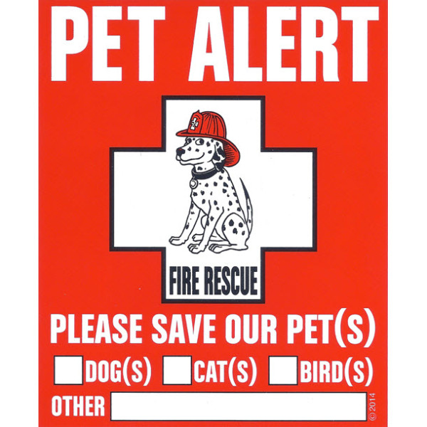 Car Ramps For Sale >> Pet Alert Pet Safety Decal | HoundAbout