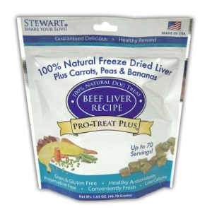 Stewart Pro-Treat Plus Beef Liver with Peas, Carrots, and Bananas