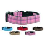 Plaid Nylon Dog Collars