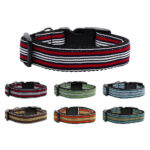 Preppy Striped Nylon Dog Collars Collection Layout