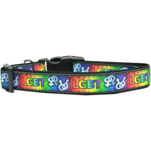 LGBT Nylon Dog Collar