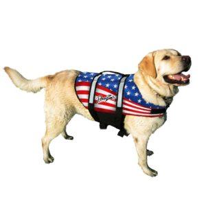 Pawz Pet Products US Flag Nylon Dog Life Jacket