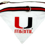 Miami Hurricanes Dog Collar Bandana