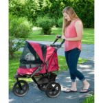 AT3 All Terrain No Zip Pet Stroller - Rugged Red