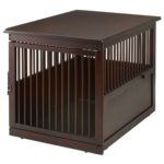 Richell Wooden End Table Dog Crate - Large