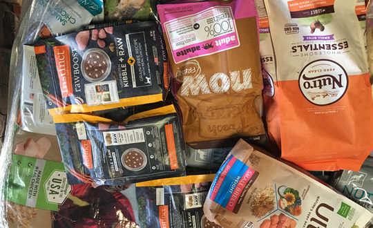 variety of dog food