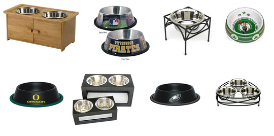 Sample of dog bowls and feeders